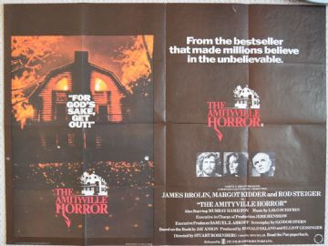 Amityville Horror original UK Quad Poster, James Brolin 1979